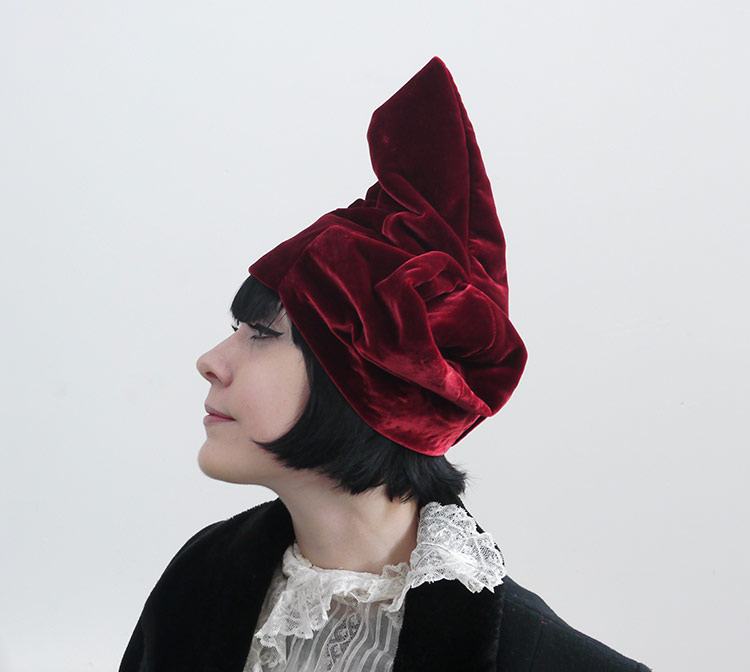 Turban by master milliner and textile artist Jeanette Sendler