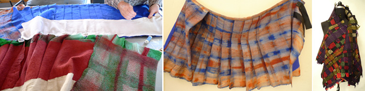 Big Cat Textiles Tartan Felt Samples